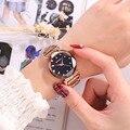 2018 модные новые роскошные Брендовые женские часы Кварцевые водонепроницаемые часы Звездное небо розовое золото наручные часы для женщин ...