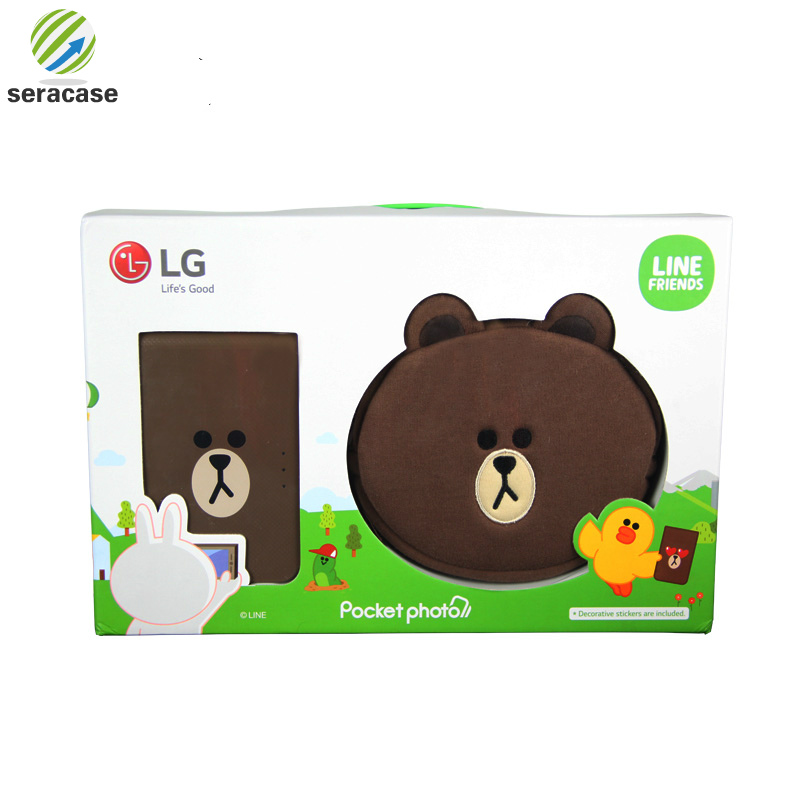 Android iOS smartphone color printer, mini wireless bluetooth photo printer, pocket color photo printer,for LG PD239SF printer-in Printers from Computer & Office