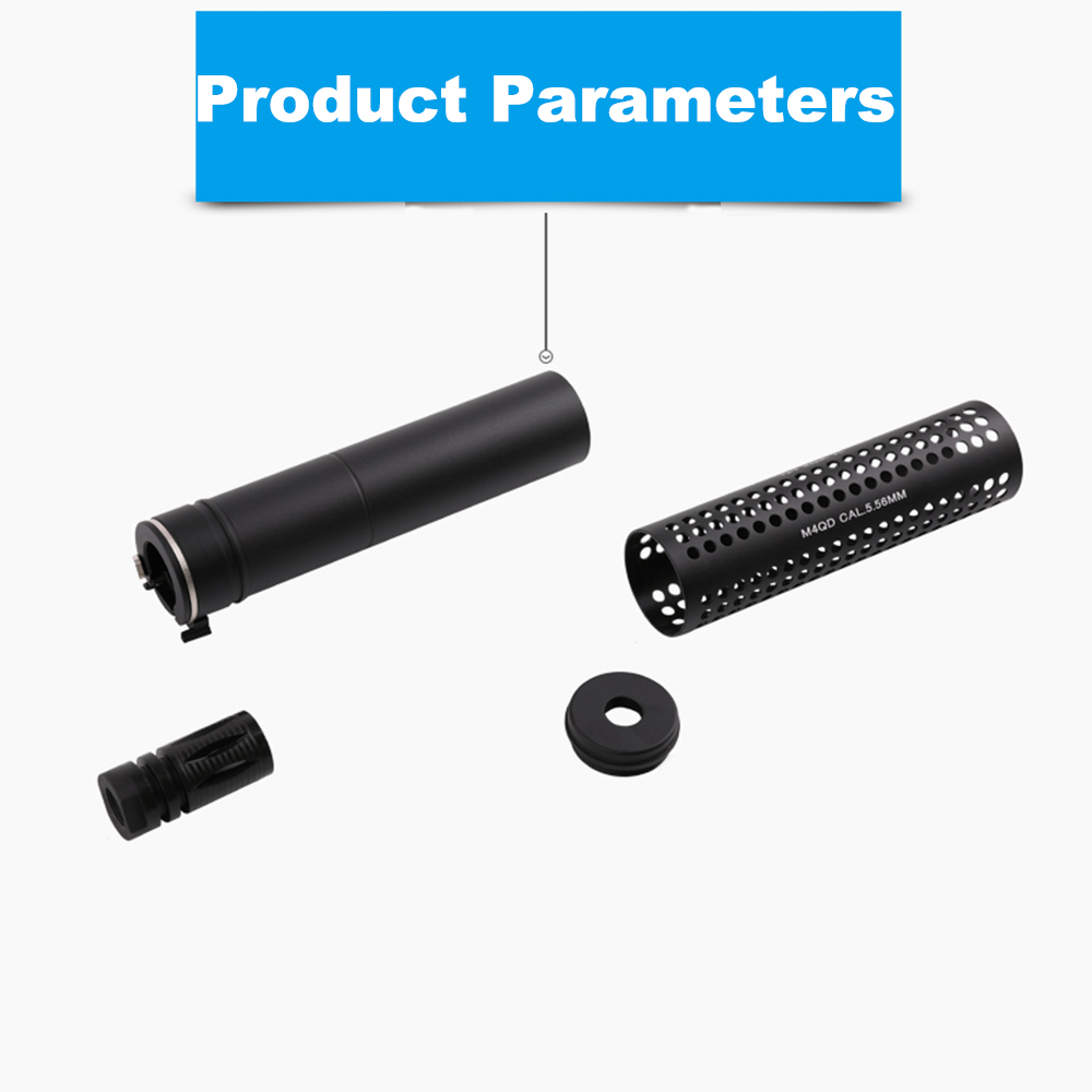 KAC Style QD CCW 14mm with QD Flash Hider for AEG Airsoft Accessories Universal Common Air Gun Paintball image