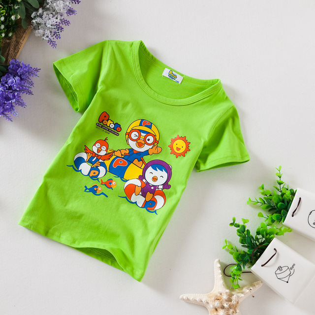 0fd234f0d Boy T-Shirt Kid Clothes Short Sleeve Cotton Cartoon pattern Printed Children  t Shirts Boy fashion Blue Green Gray Clearance sale