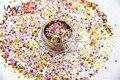 HAI25151-210 Mezclar Colores Hexágono y formas de Estrellas Del Brillo para el arte del clavo, uñas de gel, esmalte de uñas maquillaje y la decoración de DIY