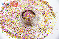 HAI25151-210 Mix Colors Hexagon and Stars shapes  Glitter for nail art ,nail gel, nail polish makeup and DIY decoration