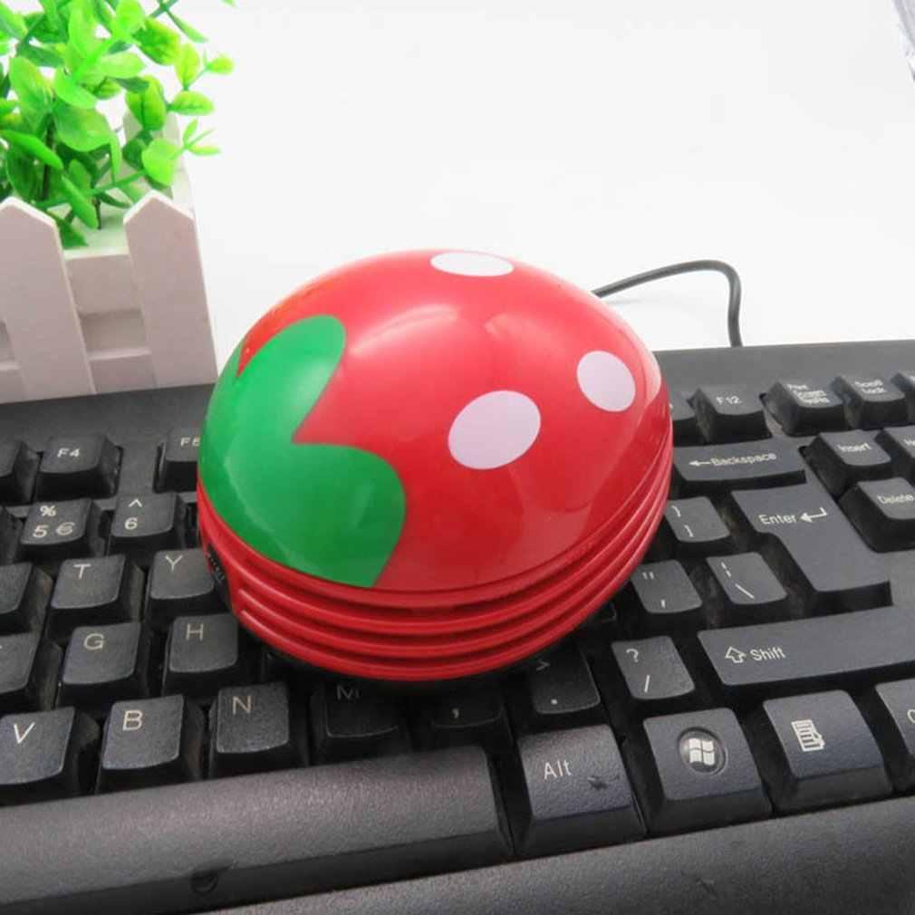 Пылесос мини ручной пылесос милый дизайн портативный домашний офисный угловой стол подметальная клубника