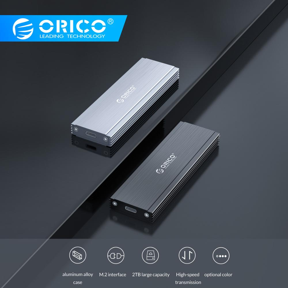 ORICO NVME NGFF M.2 SSD Enclosure Case USB3.1 GEN2 10Gbps Aluminum Case With 2TB Large Capacity Support For Window/ Mac/ Linux