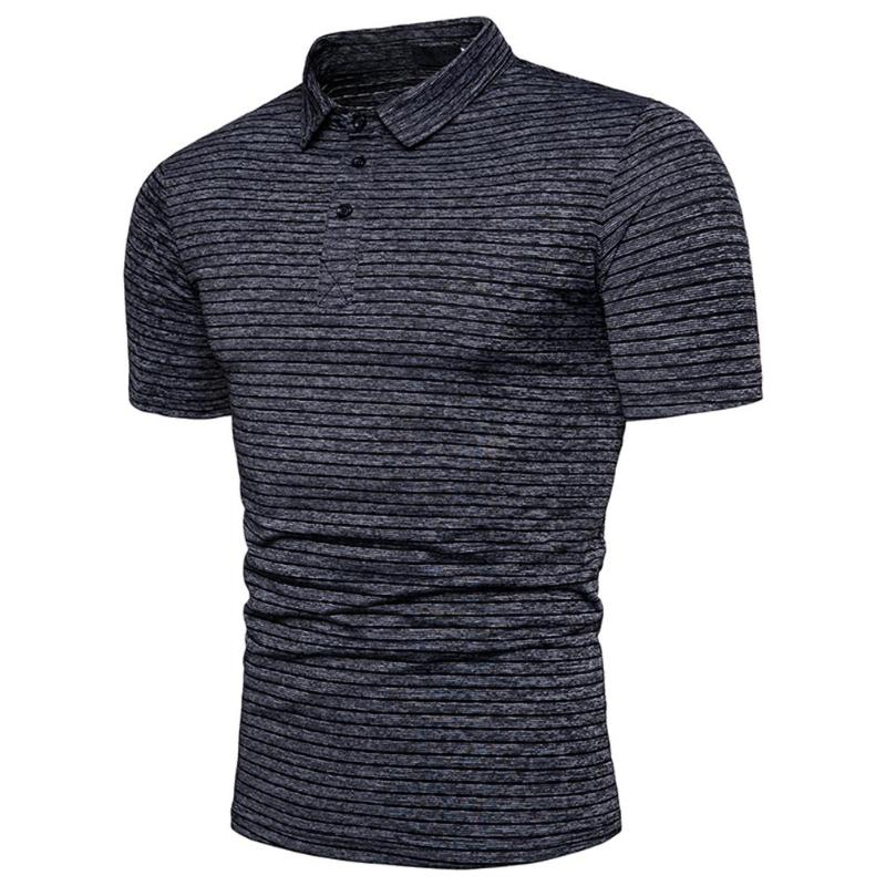 Fashion Men Creative Jacquard Pure Color   POLO   Shirt Mens Style Cotton Short Sleeve Casual Stand Collar Male Slim Tees Tops