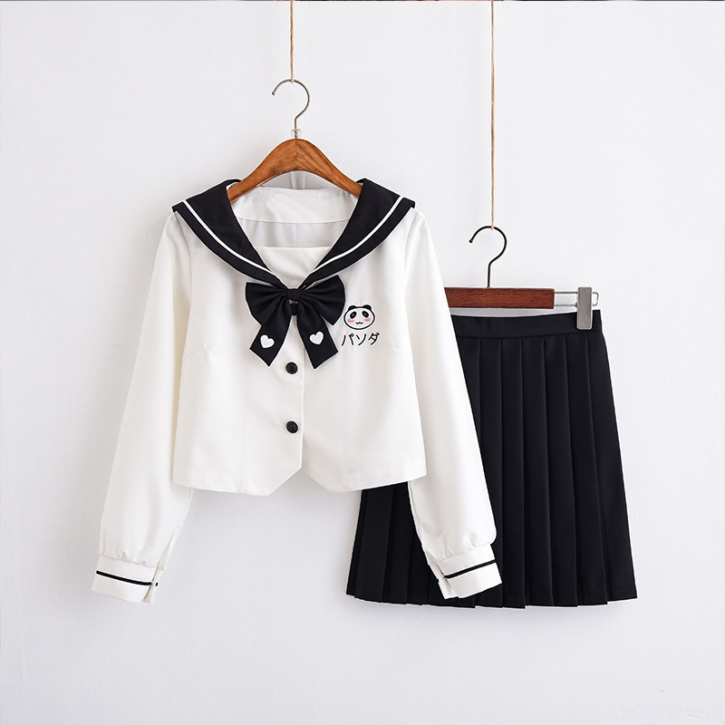 UPHYD Hot Sale Teenage Girls Korean School Uniform New Spring Autumn Sailor Suits JK Japanese Student Cosplay Costume Uniforms