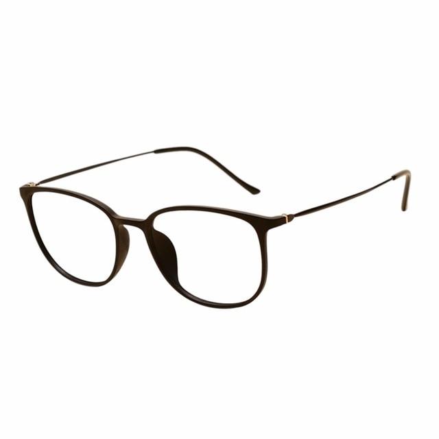 5dbde04ec47 Women Men Oval Frame Eyewear Full Frame Glasses Student Myopia Eyeglasses  -0.5~-6.0(These are not reading glasses) Matte Black