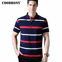 COODRONY T Shirt Men 2018 Spring Summer New Arrival Mne S T Shirt Business Casual Striped