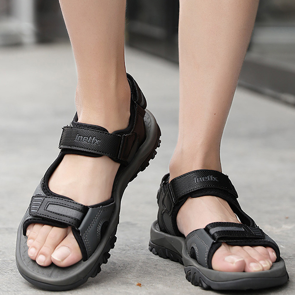 Mens Summer Breathable Sandals Beach Slipper Casual Outdoor Sport Rubber