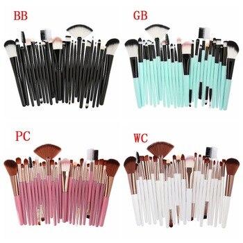 MAANGE 25 Pcs Makeup Brush Kits Face Foundation Power Blush Eyebrow Lips Make Up Brushes Set pincel maquiagem 5