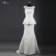 yiaibridal RSW1221 Boat Neckline Sleeveless Wedding Dress