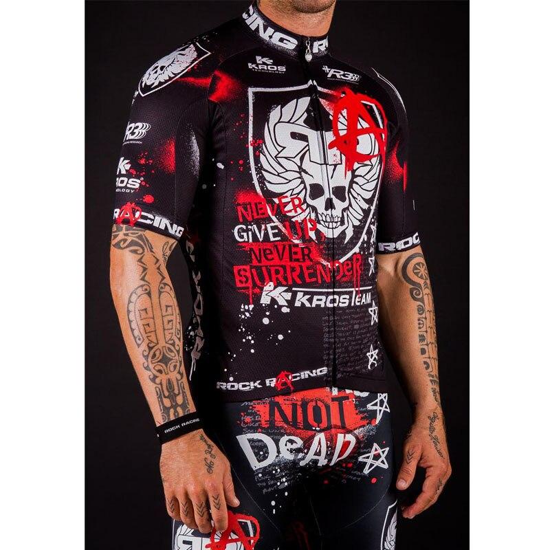 Prix pour Pro Vêtements de Cyclisme Set 2016 Équipe Rock Racing Manches Courtes Vélo Jersey + Short Respirant Kit Maillot Ciclismo vêtements de Cyclisme