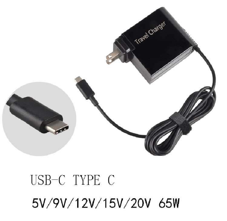 65W TYPE C AC Power Adapter Wall Charger For Lenovo Yoga 5 Pro X1 T470 X270 For ASUS Yoga5 B9440UA UX390 TABLET 5 20v 65w usb c laptop power adapter wall mount charger for lenovo thinkpad x1 tablet x270 type c adapter for hp spectre 13