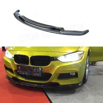 3 Series Carbon Fiber Front Lip Spoiler for BMW F30 F35 M Sport 320i 325i 328i 330i 335i 2012-2018 V Style Bumper Chin Guard