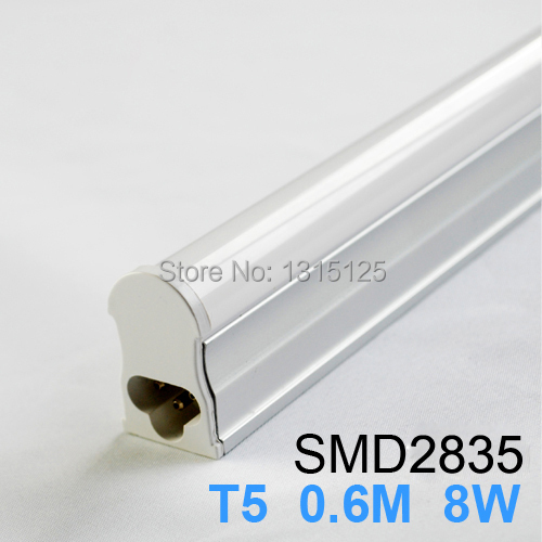 T5 8W Tubes Led 600mm SMD 2835 Super Brightness Led Bulbs lights Fluorescent Tubes AC 90~265V Constant Current + free shipping