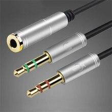 3,5mm Kopfhörer Adapter Konverter Kabel Kopfhörer + Mic Audio Splitter Aux Verlängerung Kabel Adapter Kabel für Computer PC Mikrofon