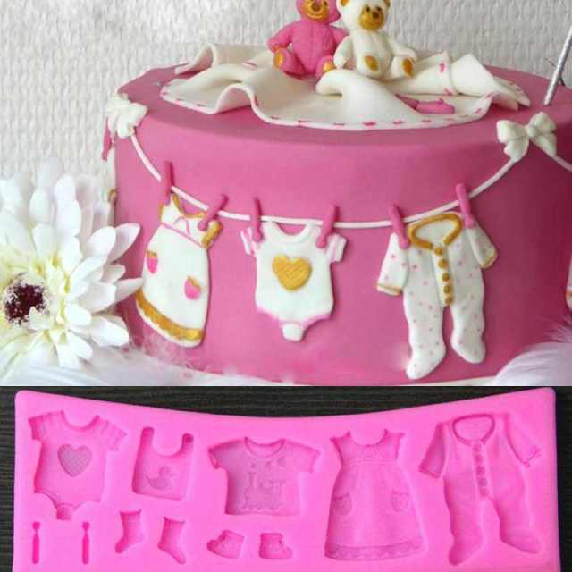 3d Baby Clothes Safety Fondant Mould Cake Decorating Chocolate