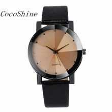 CocoShine A-923 Luxury Quartz Sport Military Stainless Steel Dial Leather Band Wrist Watch wholesale Free shipping