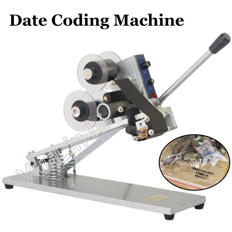 Imprimante à ruban thermique Date Machine de codage couleur Machine d'impression à chaud 220 V/110 V Film sac Date imprimante ZY-RM5-C