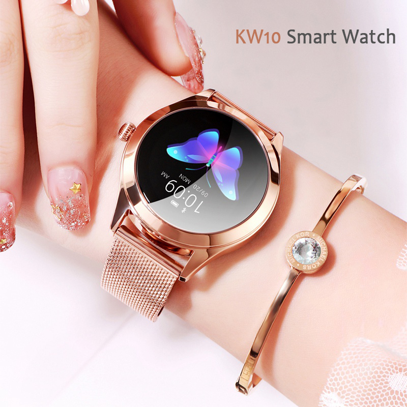 KW10 Smart Watch 2019 Fashion Women IP68 Waterproof Heart Rate Monitoring Bluetooth For Android IOS Fitness Bracelet SmartwatchKW10 Smart Watch 2019 Fashion Women IP68 Waterproof Heart Rate Monitoring Bluetooth For Android IOS Fitness Bracelet Smartwatch