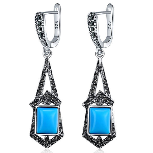 Black Resin Earrings For Women Antique