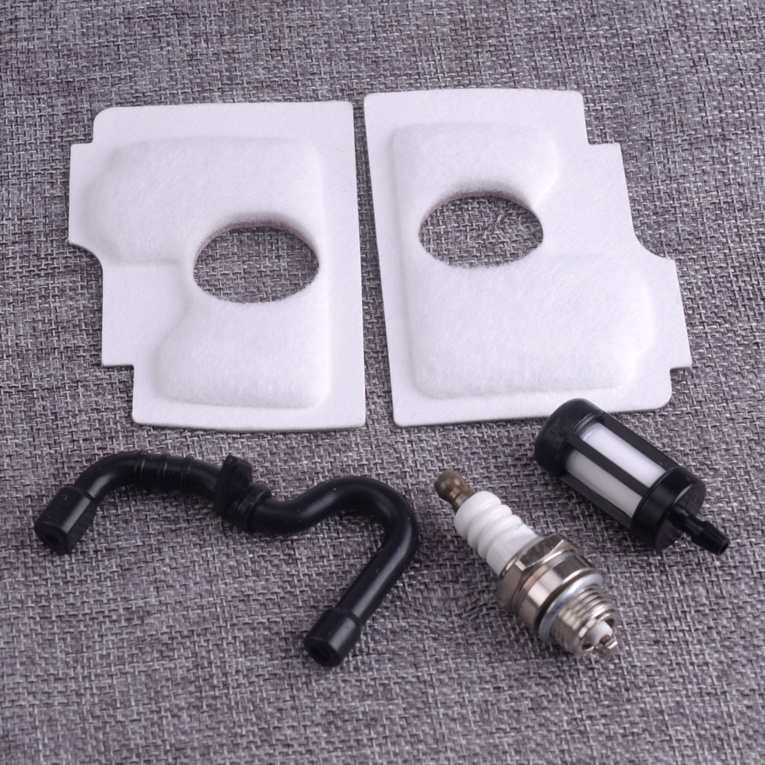 LETAOSK New Air Filter & Fuel Filter & Fuel Line & Spark Plug Tune Up Kit Fit For Stihl 018 MS180C MS170 017 Chainsaw