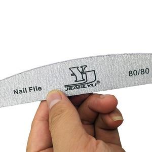 Image 5 - 50pcs/lot Nail File Sanding 80/80 Buffer Block Grey Boat UV Gel Nails Polisher Washable Thick Manicure Pedicure Tools Nail Care