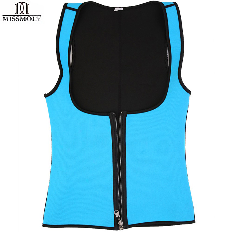 43ca7ff640ebd EXTREME Slimming Thermo Cami Hot Slim Belt Neoprene Hot Body Shaper Vest  Sweat Waist Trainers Shapewear Zipper Vest Strap Women-in Waist Cinchers  from ...