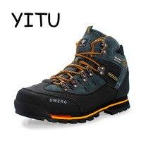 YITU Breathable Outdoor Hiking Shoes Camping Mountain Climbing Hiking Boots Men Waterproof Sport Fishing Boots Trekking Sneakers