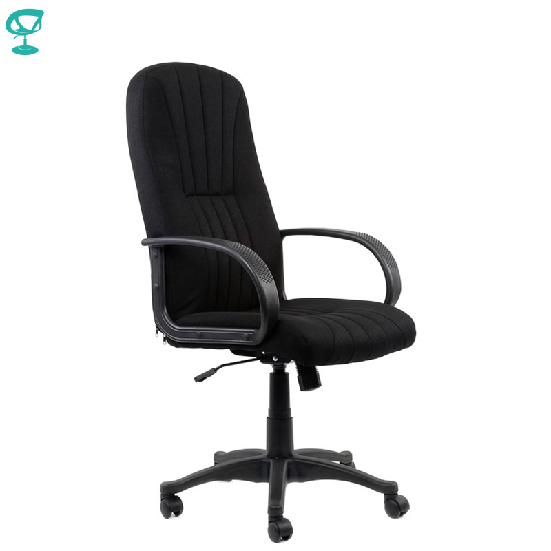 95148 Black Office Chair Barneo K-143 Fabricr Computer Chair High Back Gas Lift Plastic Armrests Free Shipping In Russia