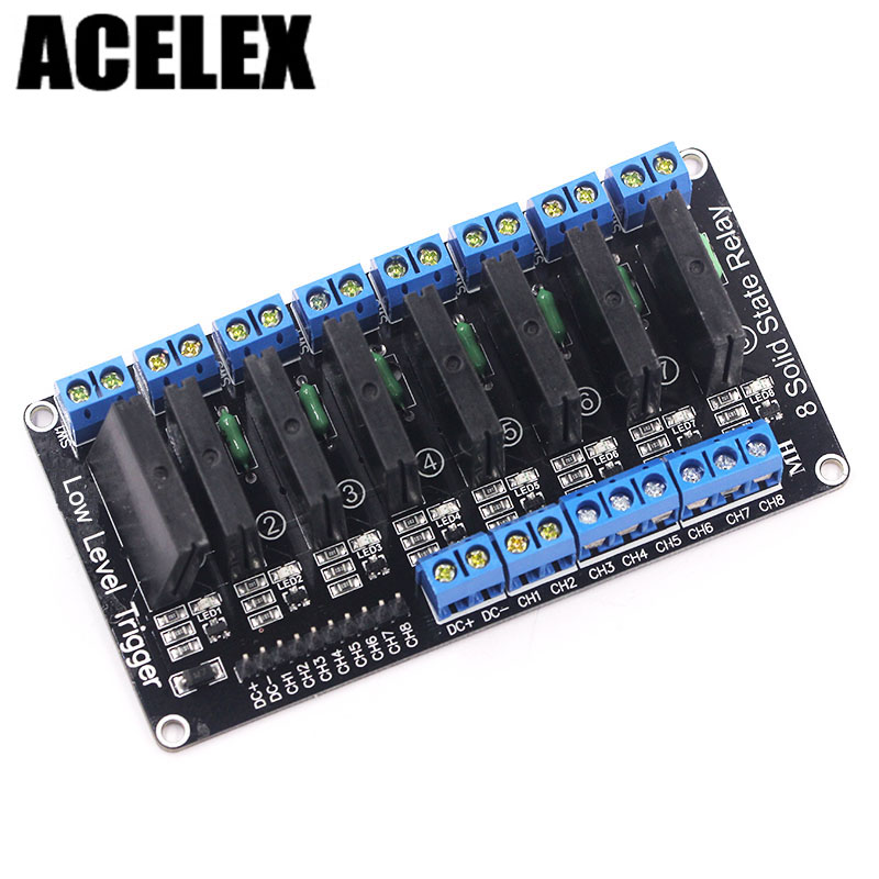 8 Channel 5V DC Relay Module Solid State LowLevel SSR AVR DSP 2A 240V relay shield v1 0 5v 4 channel relay module for arduino works with official arduino boards