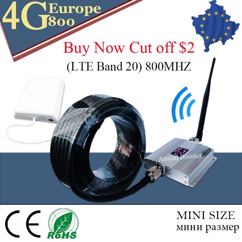 Amplificateur de signal 4g LTE 800mhz amplificateur de signal gsm 4g bande de répéteur d'antenne 20 rapide 4G réseau 800mhz amplificateur de Signal Mobile
