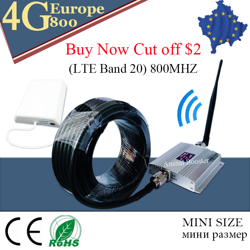 4g signal booster LTE 800mhz signal amplificateur gsm 4g antenna repeater Band 20 Fast 4G Network