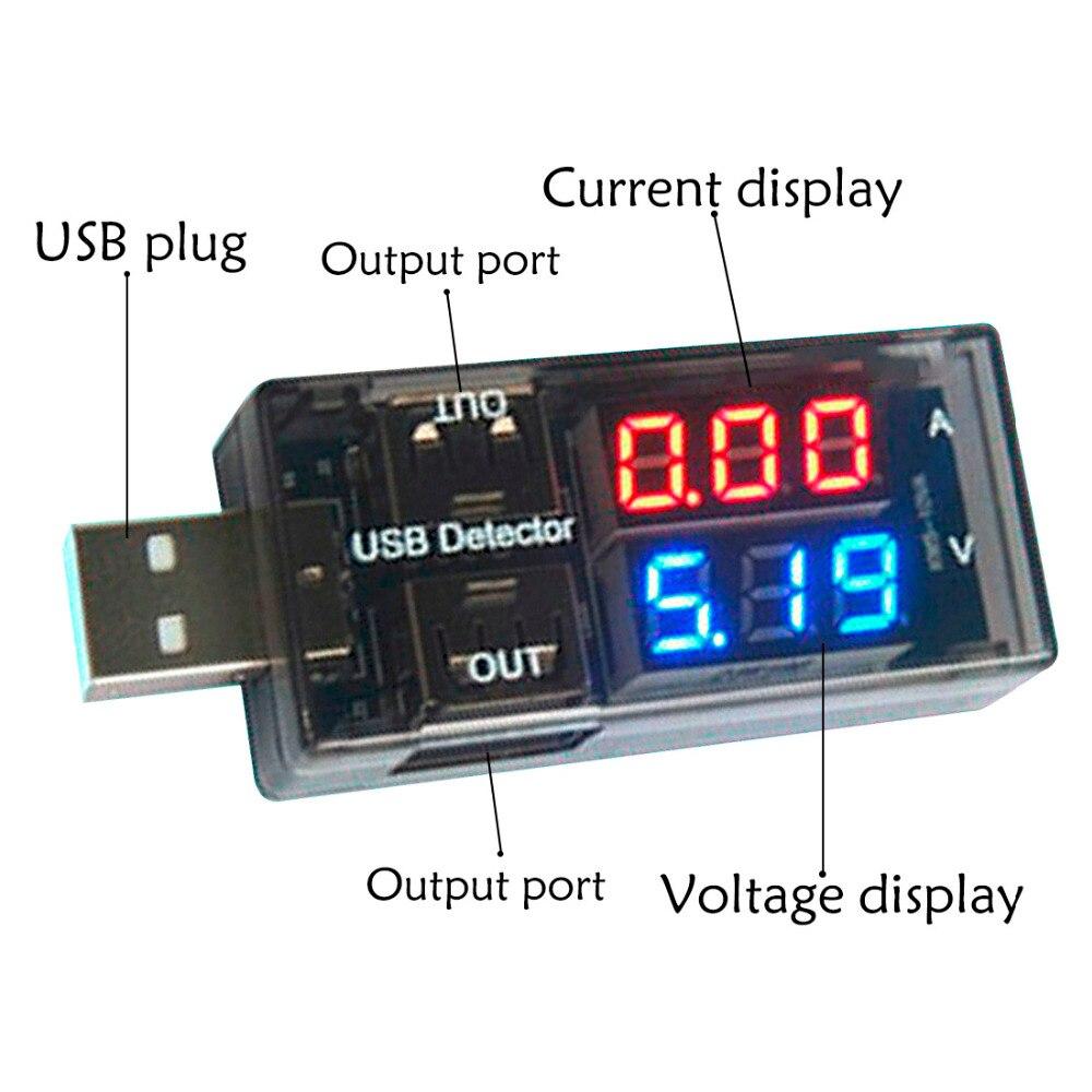 USB-тестер 2 в 1, USB-измеритель напряжения, амперметр, USB-детектор, двухрядный индикатор напряжения
