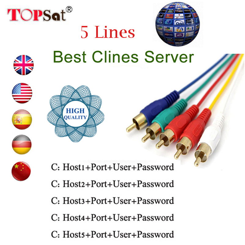 CCcam cline for 1 year spain europe poland Clines for HD Satellite TV Receiver DVB-S2 Decoder support European channels ccam hd cable europe 7 lines 1 year cccam clines for digital tv satellite receiver dvb s2 set top box one year ccam cline spain