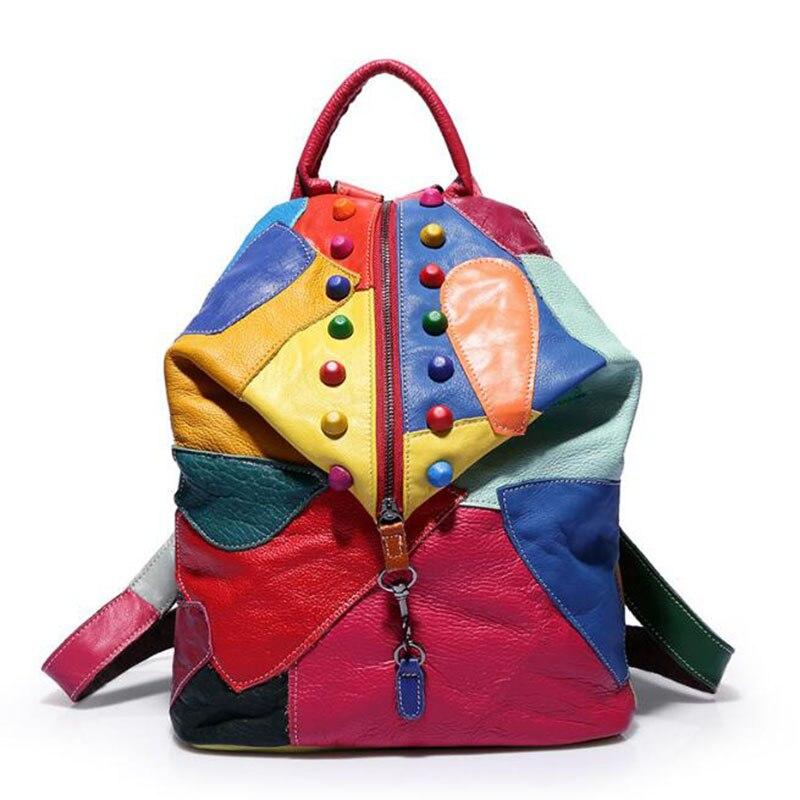 Vintage Genuine Leather Backpack Mochilas Mujer 2019 Bags for Women Mochila Feminina Backpacks Back Bag Travel Mochila CasualVintage Genuine Leather Backpack Mochilas Mujer 2019 Bags for Women Mochila Feminina Backpacks Back Bag Travel Mochila Casual