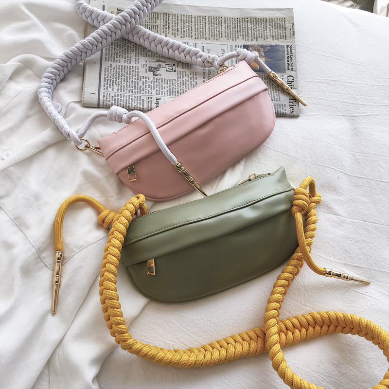 Rope Chain PU Leather Chest Bag