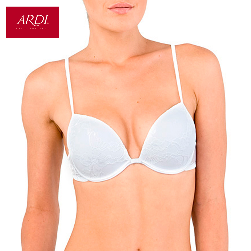 Woman's Bra Lace White Push Up Gell Cup Cotton Lining Large Size Big Breast Support 70 75 80 A B C D ARDI Free Delivery
