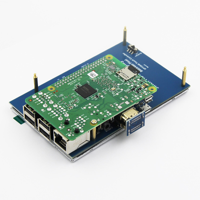 Écran tactile LCD 5 pouces 800x480 HD TFT pour Raspberry PI 3 modèle B/2 modèle B/A + XXM8