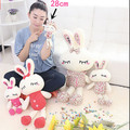 11'' 28cm Lovely Rabbit Plush Toy Soft Love Rabbit Toy 2 Styles Stuffed Animal Doll Gifts for Children and Girls