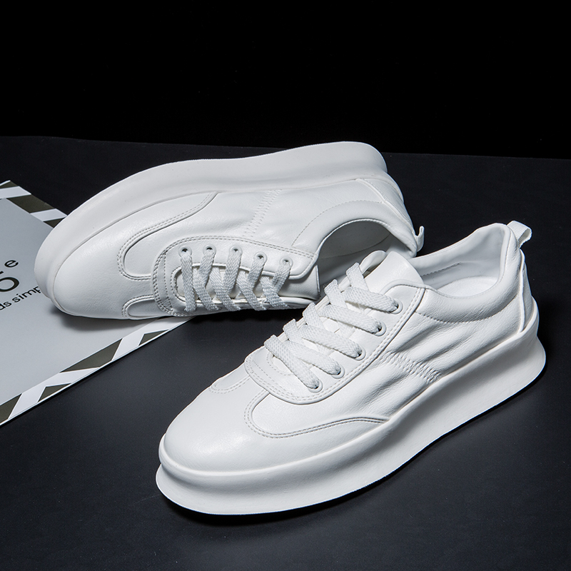 Altura do salto 4 cm sapatos para homens Designer de Moda Casual sapatos Brancos bordo Estudantes sapatos tendência dos homens Das Sapatilhas 2018 Marca walkerPeak