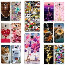 "Case For Huawei Honor 5X 5 X Cute Patterned Print TPU Back Cover for Huawei Honor 5x 5.5"" KIW-L21 Soft Silicone Back Phone Shell(China)"
