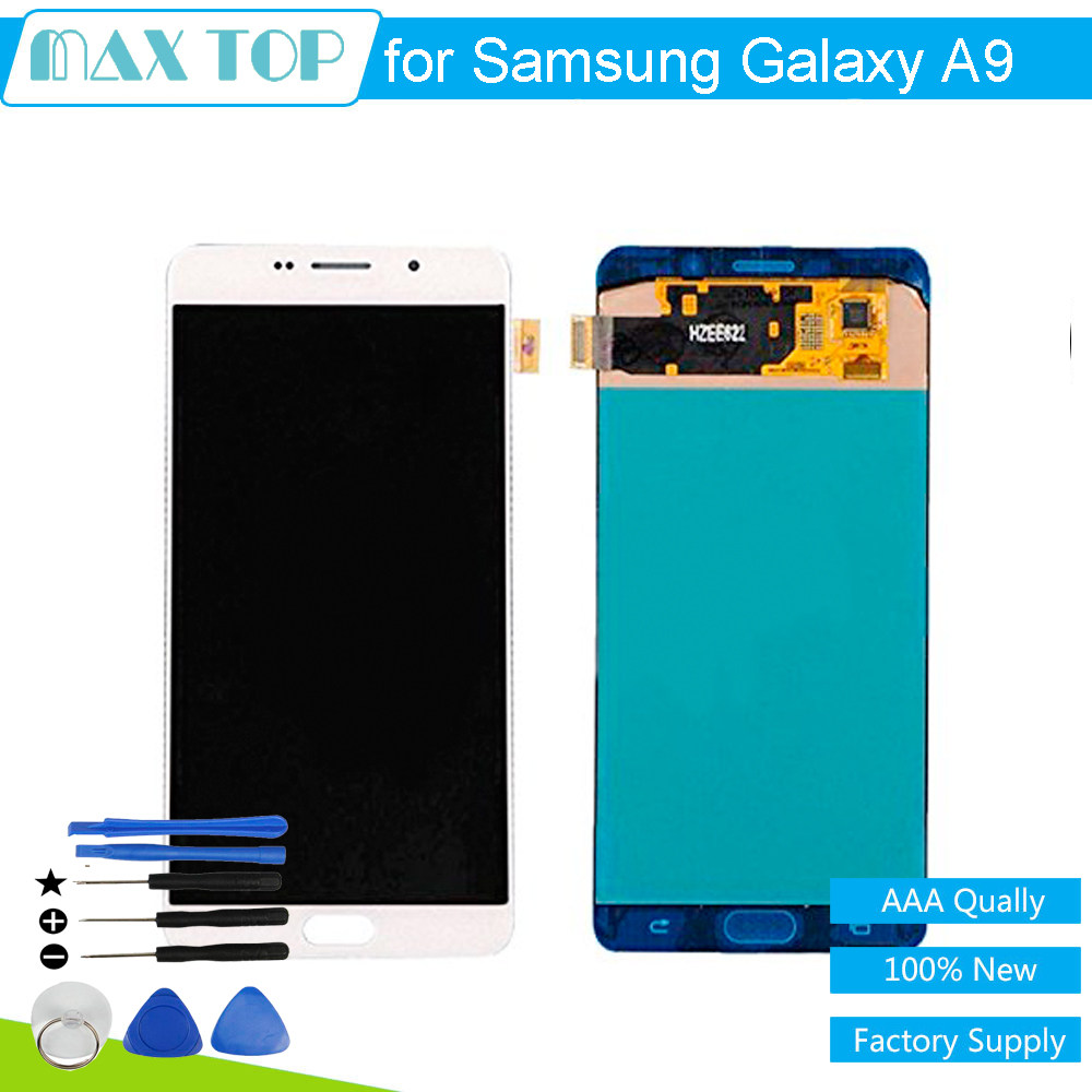 LCD Display + Touch Screen Digitizer Assembly Replacement for Samsung Galaxy A9 / A900 white / black + tools