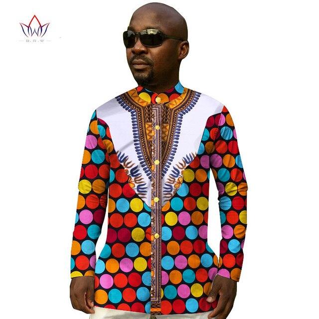 0c1f646b729 Custom Men Shirts Long Sleeve Mandarin Collar Print Dashiki Men Shirt  Fashion African Print Wax Plus