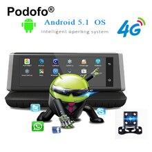 Podofo E02 8″ Touch 4G Android Wifi Registrar GPS FHD 1080P Video Recorder Dual Lens Dashcam ROM 16GB ADAS Car Dvr Camera Cams
