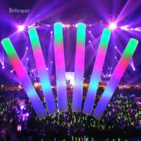 Behogar 16ピースledカラフルなコンサートパーティークラブ応援スポンジglowsticksグロースティック