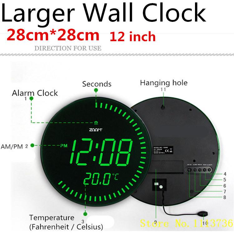 Creative Large LED Digital Wall Clock Modern Desig...