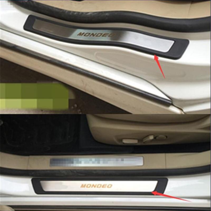Бесплатная доставка! Для Ford MONDEO 2013-2018, Стайлинг автомобиля, Накладка для порога, защита, ступенчатая крышка, защита