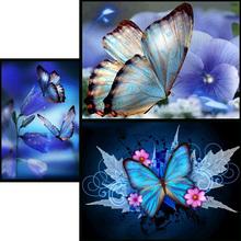 Full   Diamond 5D DIY Diamond PaintingPretty butterflyDiamond Embroidery Cross Stitch Rhinestone Mosaic Painting