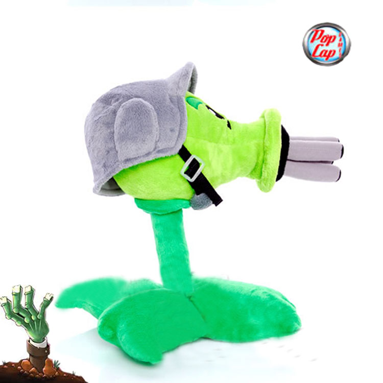 Star-Product-12inch-30cm-Lovely-Plant-Vs-Zombies-PopCap-Gatling-Peashooter-Plush-Toys1pcspack-2